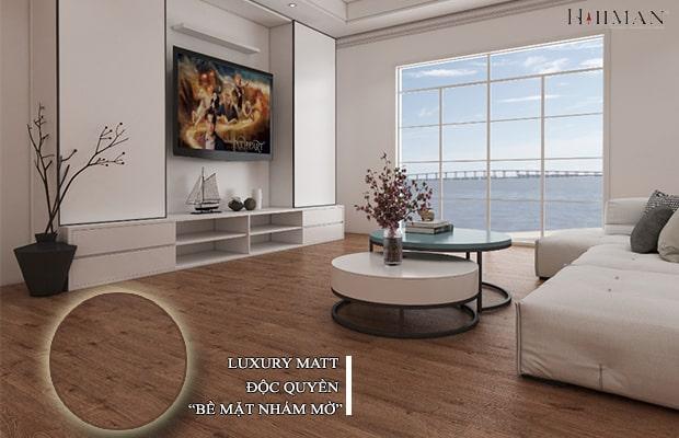 Hillman áp dụng công nghệ bề mặt nhám mờ Luxury Matt độc quyền