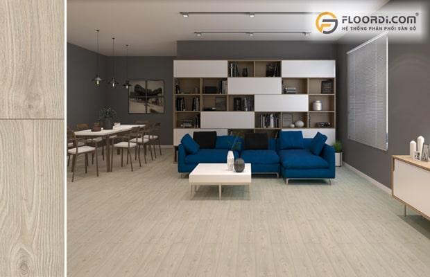 Ốp sàn phòng khách mang lại giá trị thẩm mỹ cao cho không gian sống