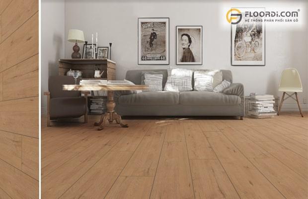 Nên lát sàn gỗ phòng khách vì giá trị thẩm mỹ cao với độ bền tốt