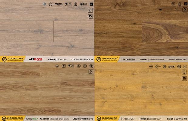 Giá vật tư sàn gỗ phụ thuộc vào nhiều yếu tố