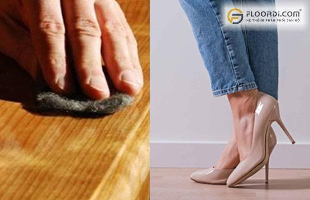 Người dùng có thể dựa vào các cách trên để kiểm tra khả năng chống mài mòn và chịu lực ở ván sàn