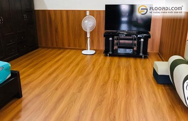 Dùng loại gỗ lát sànchống nướctừ cấp độ 1 đến 5 giúp đảm bảo không gian luôn như mới