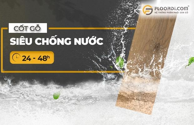 Ván gỗ HDF đạt chuẩn chất lượng quốc tế có khả năng chống ẩm, chống nước rất tốt